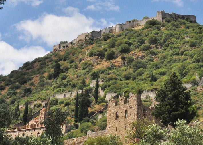 Κάστρο Μυστρά - Ξενώνας Πικουλιάνικα - Μυστράς